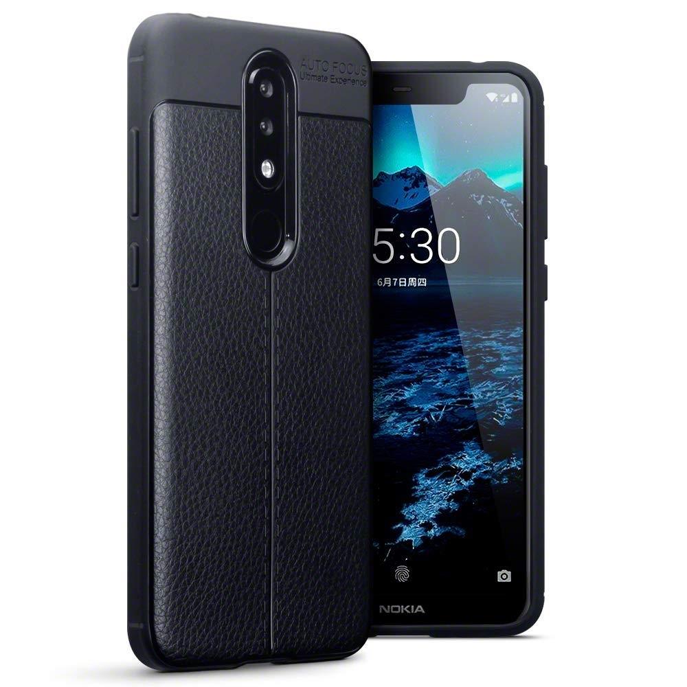 Terrapin Θήκη TPU Leather Design Nokia 5.1 Plus - Black (118-001-286)