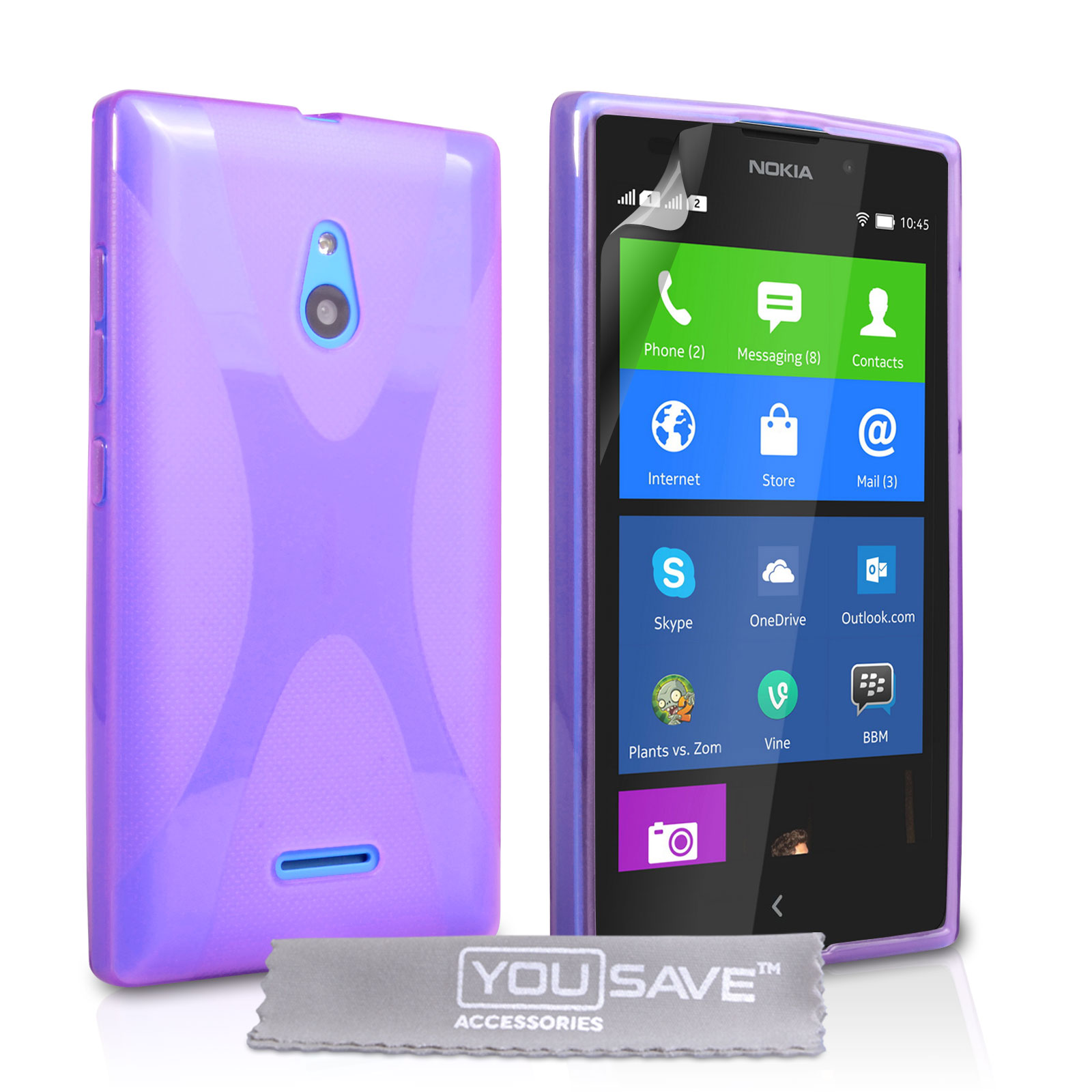 Ημιδιάφανη Θήκη Nokia XL by YouSave (Z466)