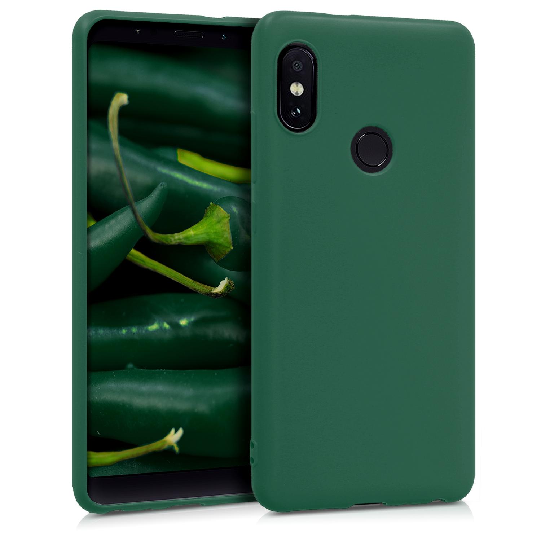 KW Θήκη Σιλικόνης Xiaomi Redmi Note 5 / Redmi Note 5 Pro - Dark Green Matte (44664.118)