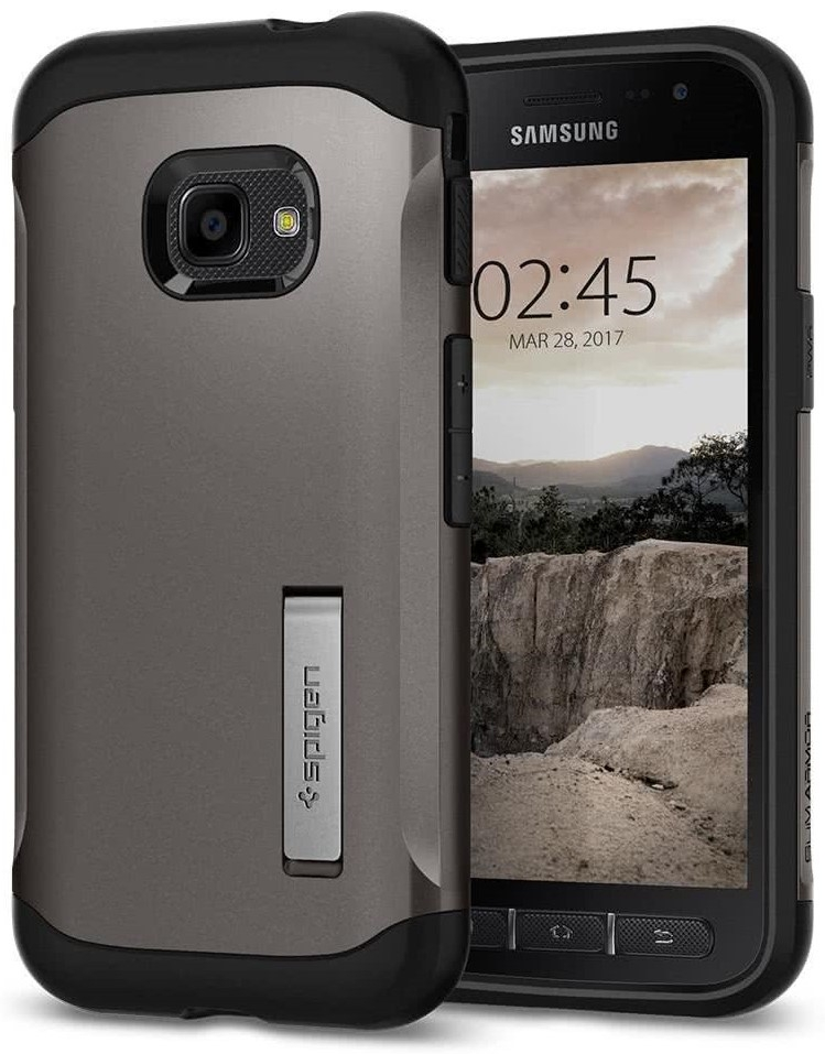 Spigen Θήκη Slim Armor Samsung Galaxy Xcover 4 - Gunmetal (585CS21819)