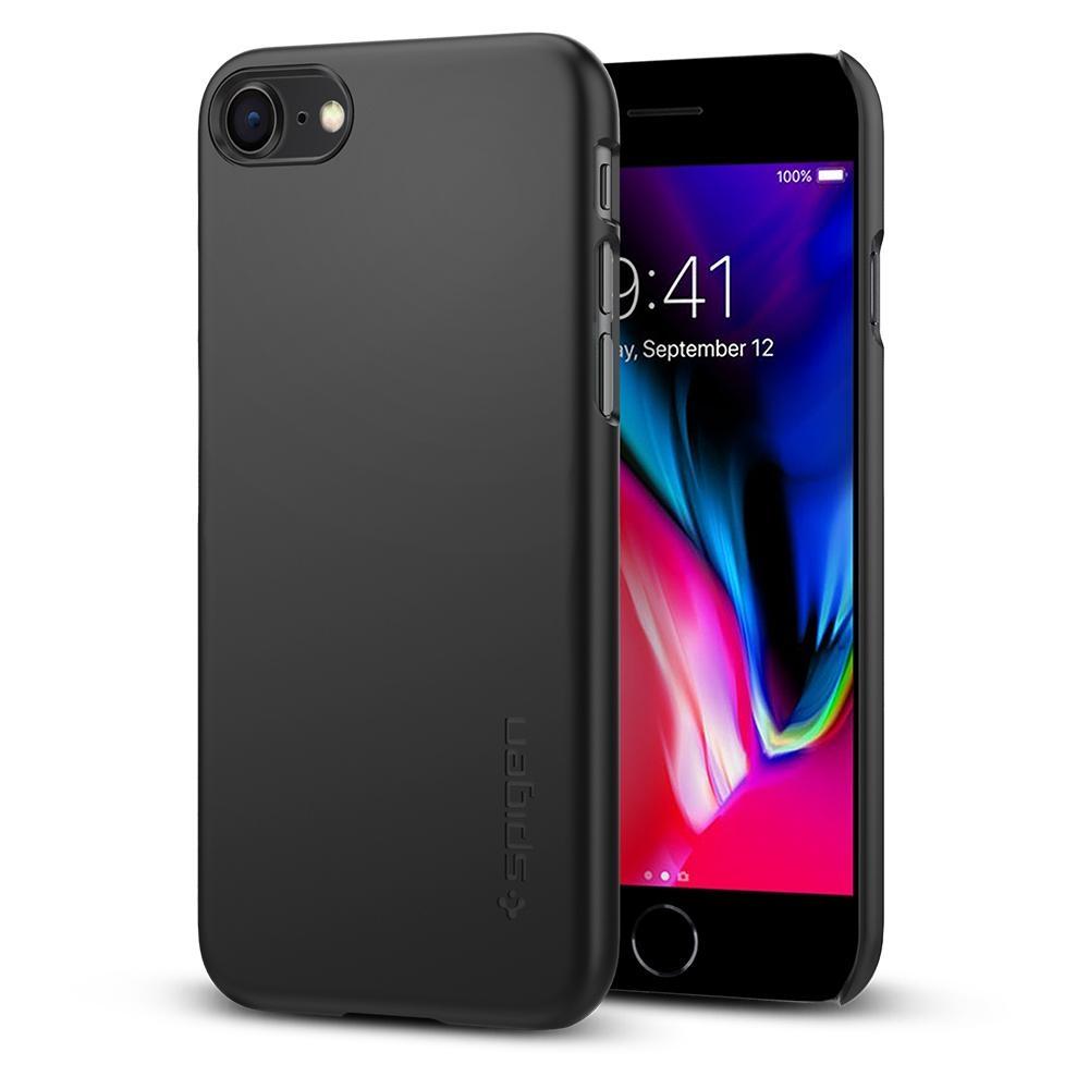 Spigen Θήκη Thin Fit iPhone 7/8 - Black (054CS22208)