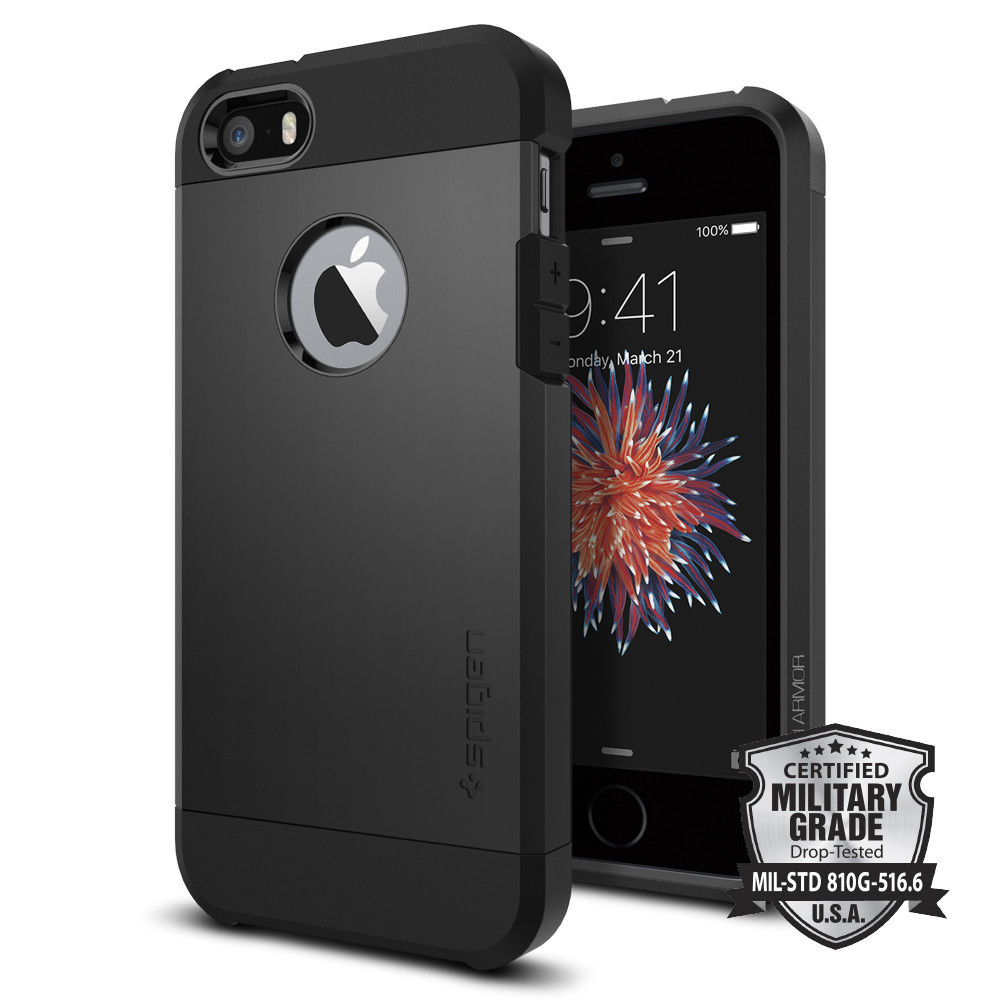 Spigen Θήκη Tough Armor iPhone 5/5S/SE - Black (041CS20189)