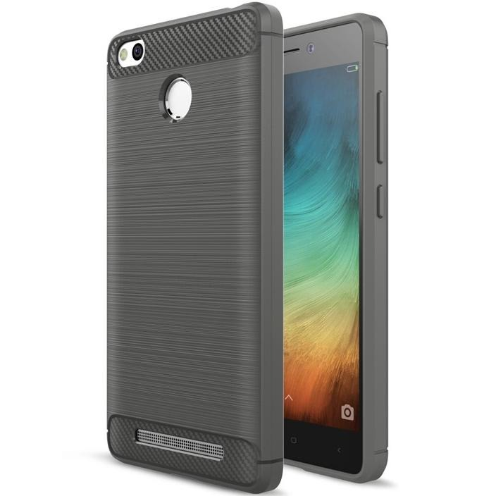 SHTL Θήκη TPU Carbon Xiaomi Redmi 3S/3 Pro - Grey (139662)