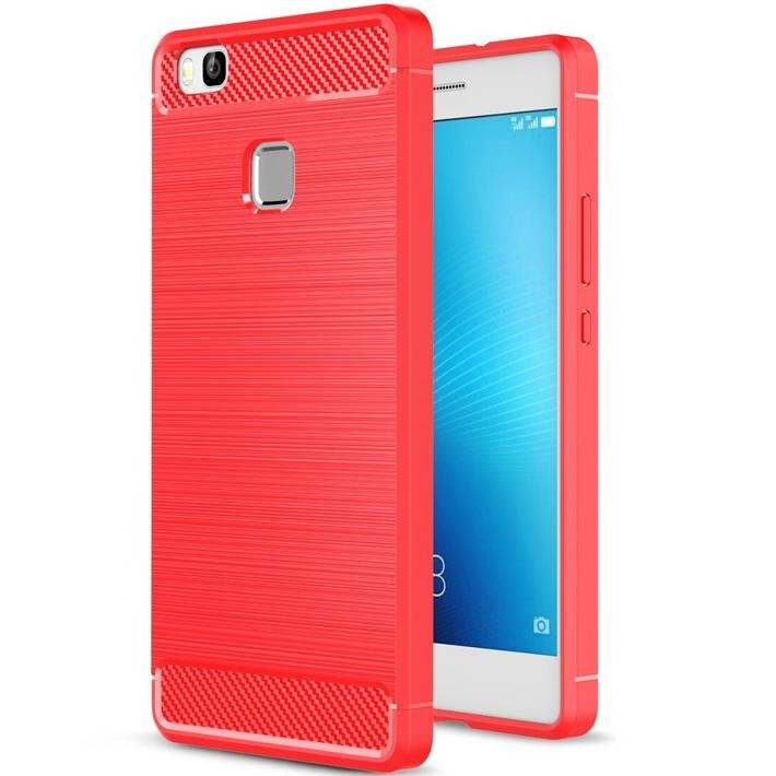 SHTL Θήκη TPU Carbon Huawei P9 Lite - Red (140559)