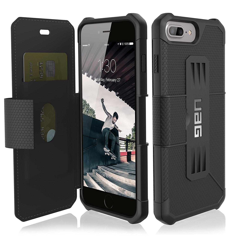 UAG Θήκη Metropolis Rugged iPhone 8 Plus / iPhone 7 Plus - Black (IPH7/6SPLS-E-BL) - Πορτοφόλι