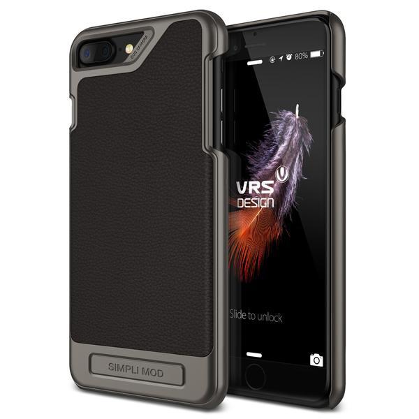 Verus Δερμάτινη Θήκη Simpli Mod iPhone 8 Plus / iPhone 7 Plus - Black (VDIP7P-SMDBK)