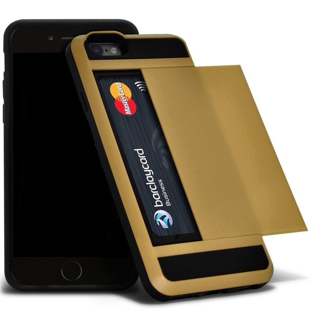 Ανθεκτική Θήκη Samsung Galaxy J5 (2015) με Θήκη για 2 Κάρτες - Gold (9738) - OEM