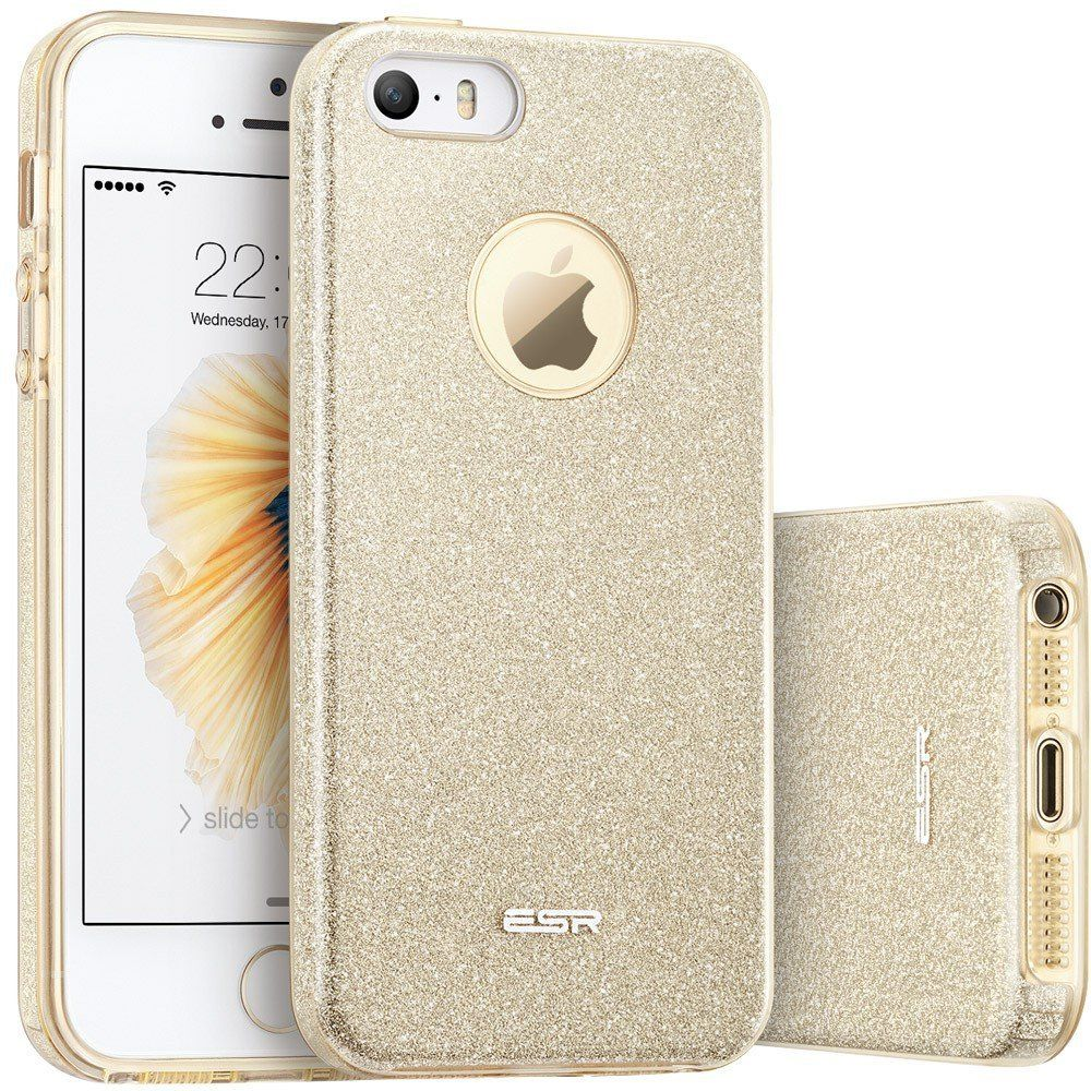 ESR Glitter Shine Θήκη iPhone 5/5S/SE - Champagne Gold (10143)
