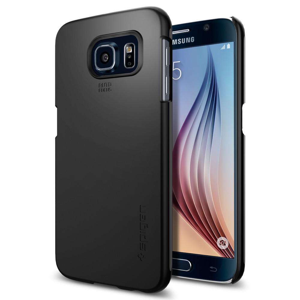 Spigen Θήκη Thin Fit Samsung Galaxy S6 - Black (SGP11308)