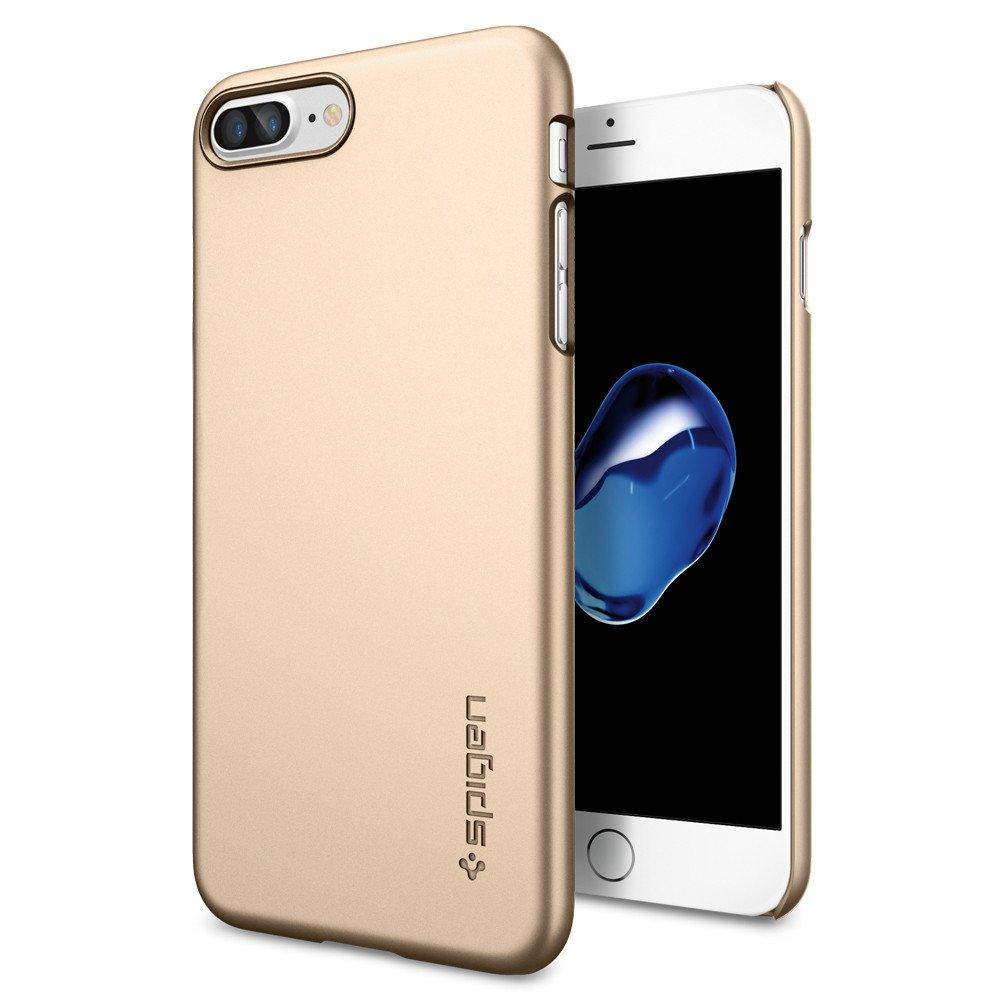 Spigen Θήκη Thin Fit iPhone 7 Plus - Champagne Gold (043CS20734) θήκες κινητών