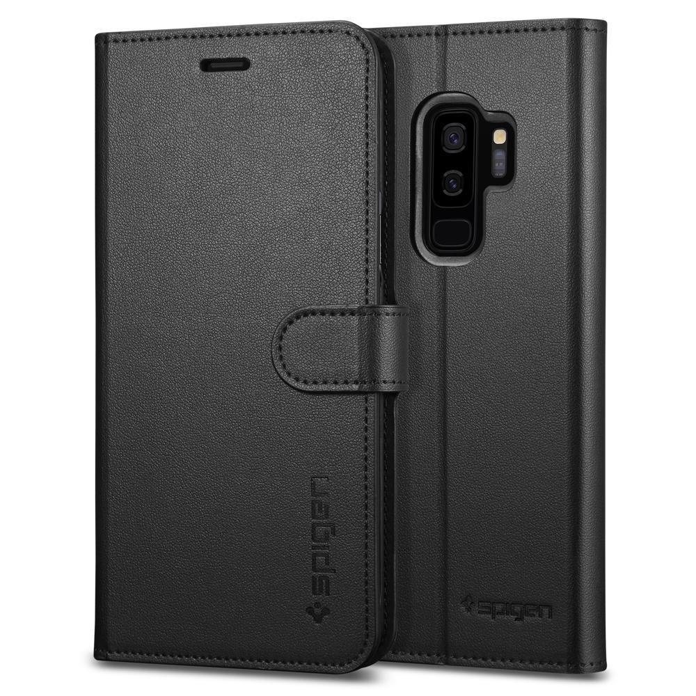 Spigen Wallet S. Θήκη - Πορτοφόλι Samsung Galaxy S9 Plus - Black (593CS22957)