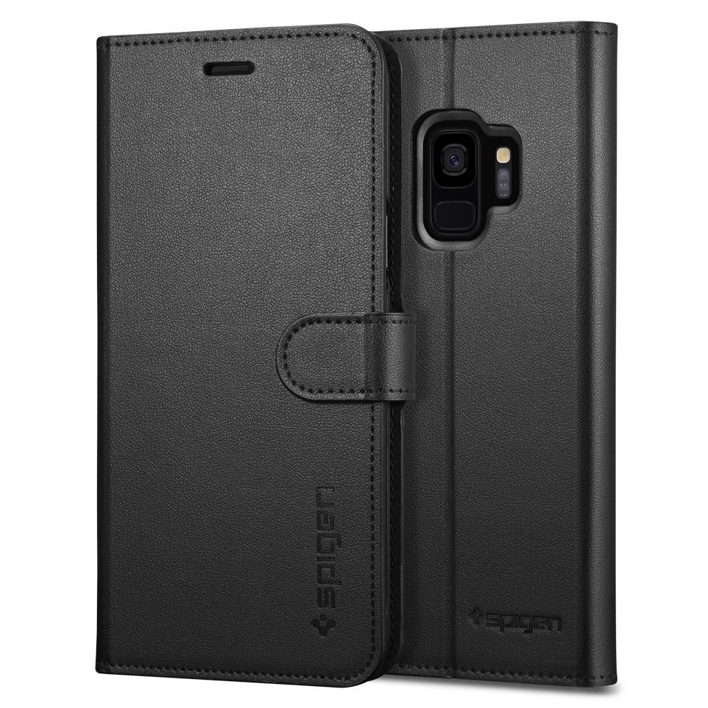 Spigen Wallet S. Θήκη - Πορτοφόλι Samsung Galaxy S9 - Black (592CS22870)