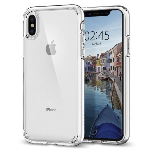 Spigen Ultra Hybrid Θήκη iPhone X / XS - Crystal Clear (063CS25115)