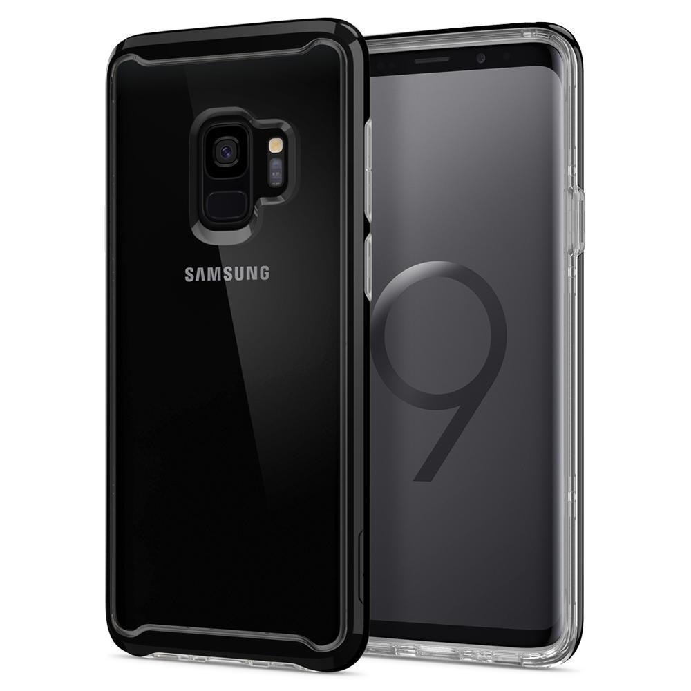 Spigen Διάφανη Ανθεκτική Θήκη Neo Hybrid Crystal Samsung Galaxy S9 - Midnight Black  (592CS23339)