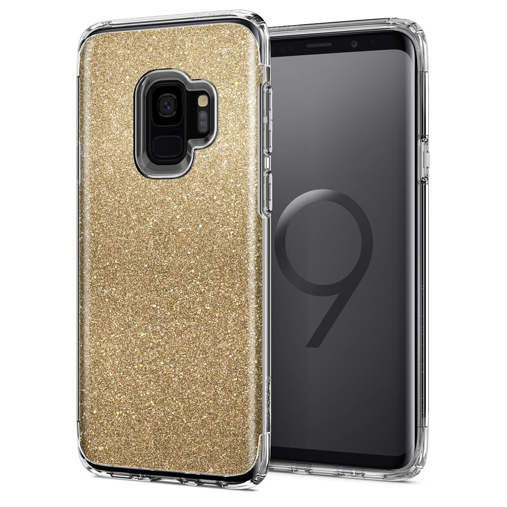 Spigen Θήκη Slim Armor Crystal Glitter Samsung Galaxy S9 - Gold Quartz (592CS22885)