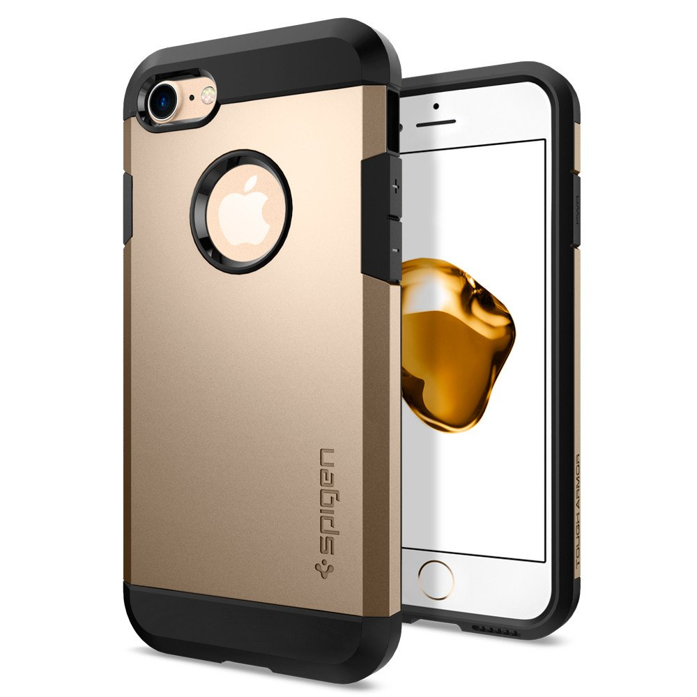 Spigen Θήκη Tough Armor iPhone 7 - Champagne Gold (042CS20490)