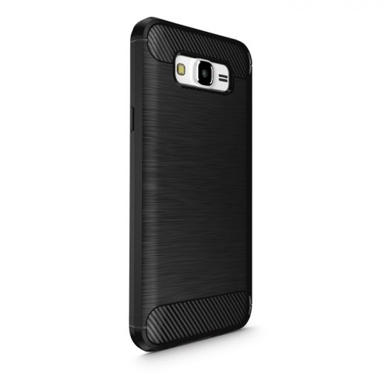 Θήκη TPU Carbon Samsung Galaxy J7 (2016) - Black (9190) - OEM