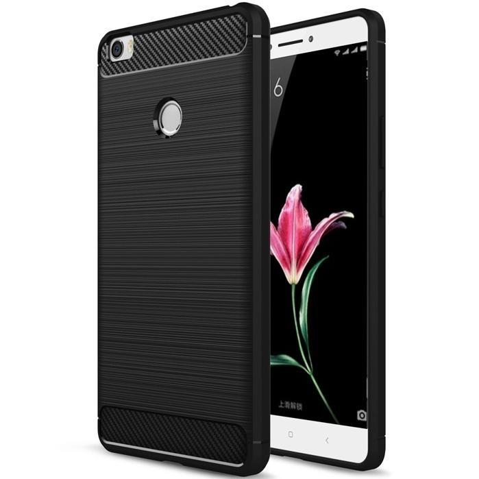 SHTL Θήκη TPU Carbon Xiaomi Mi Max - Black (140077)