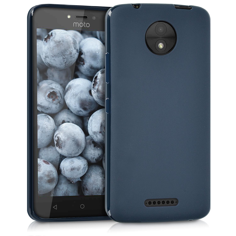 KW Θήκη Σιλικόνης Motorola Moto C - Dark Blue Matte (42009.53)