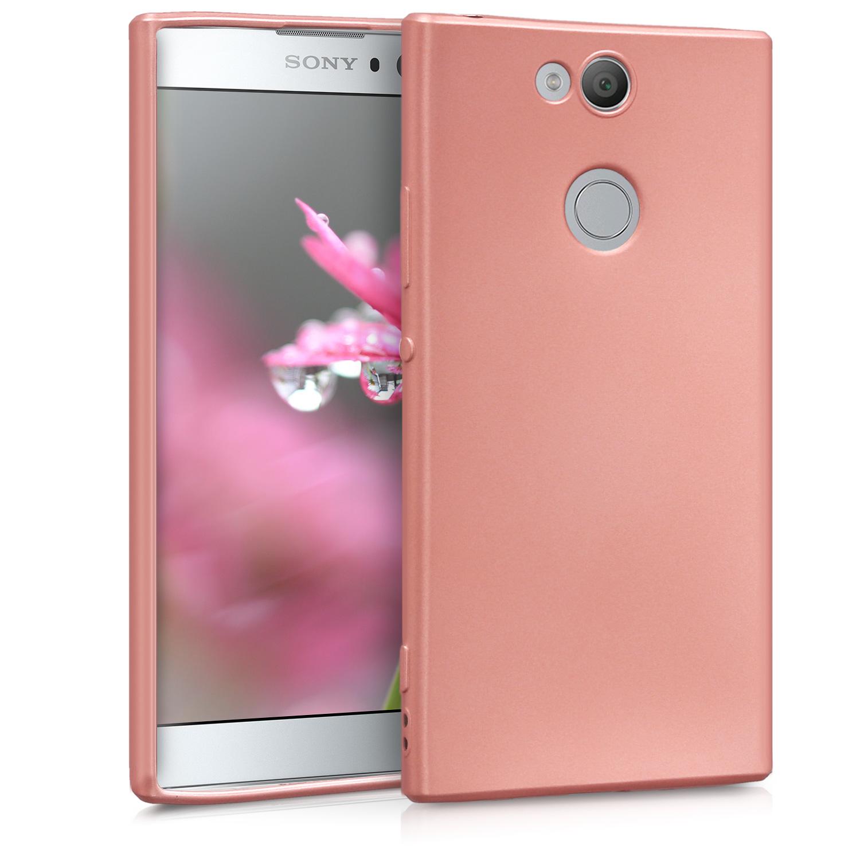 KW Θήκη Σιλικόνης Sony Xperia XA2 - Metallic Rosegold (44398.31)