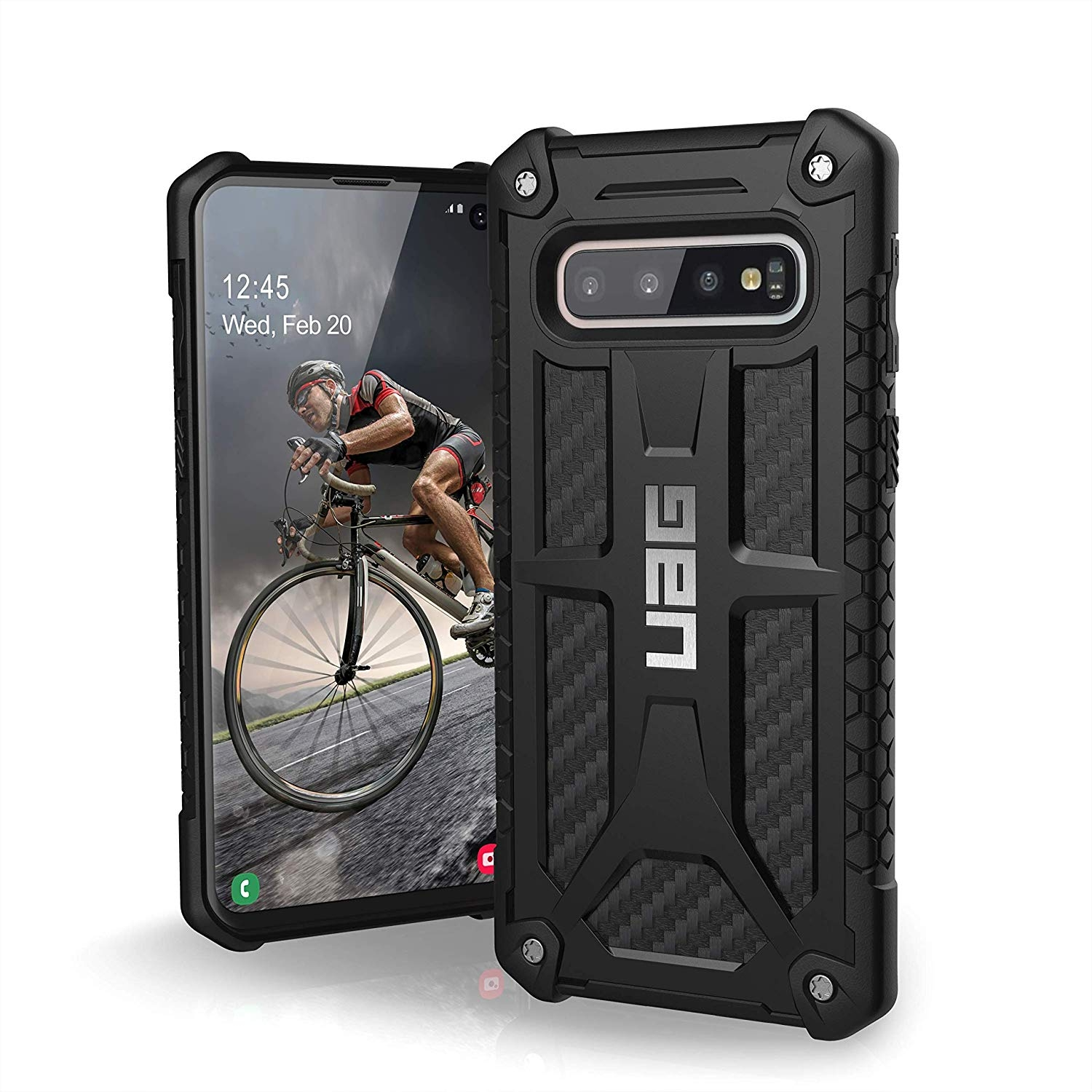 UAG Θήκη Monarch Light Rugged Samsung Galaxy S10 - Carbon Fiber (211341114242)