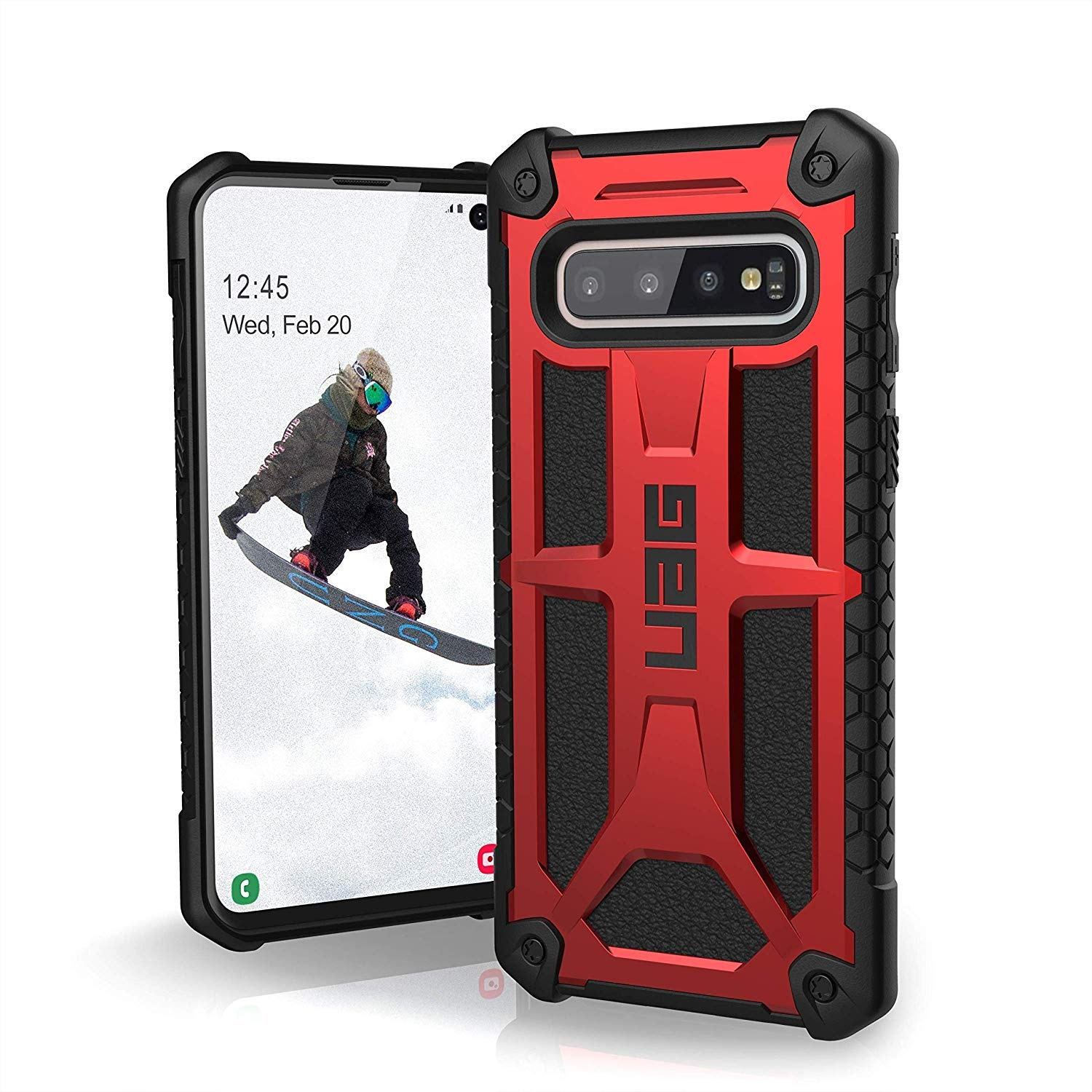 UAG Θήκη Monarch Light Rugged Samsung Galaxy S10 - Crimson (211341119494)