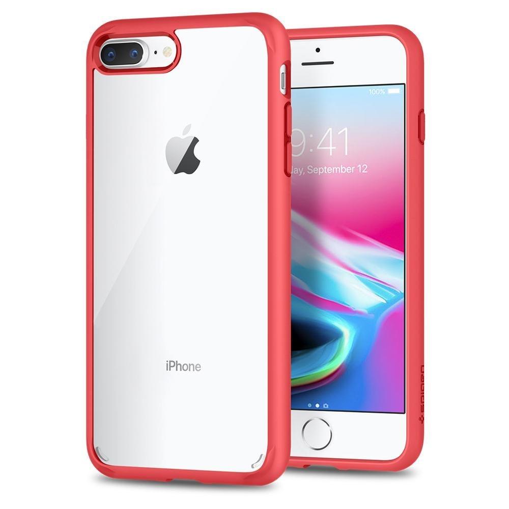 Spigen Θήκη Ultra Hybrid 2 iPhone 8 Plus / 7 Plus - Red (043CS21729)