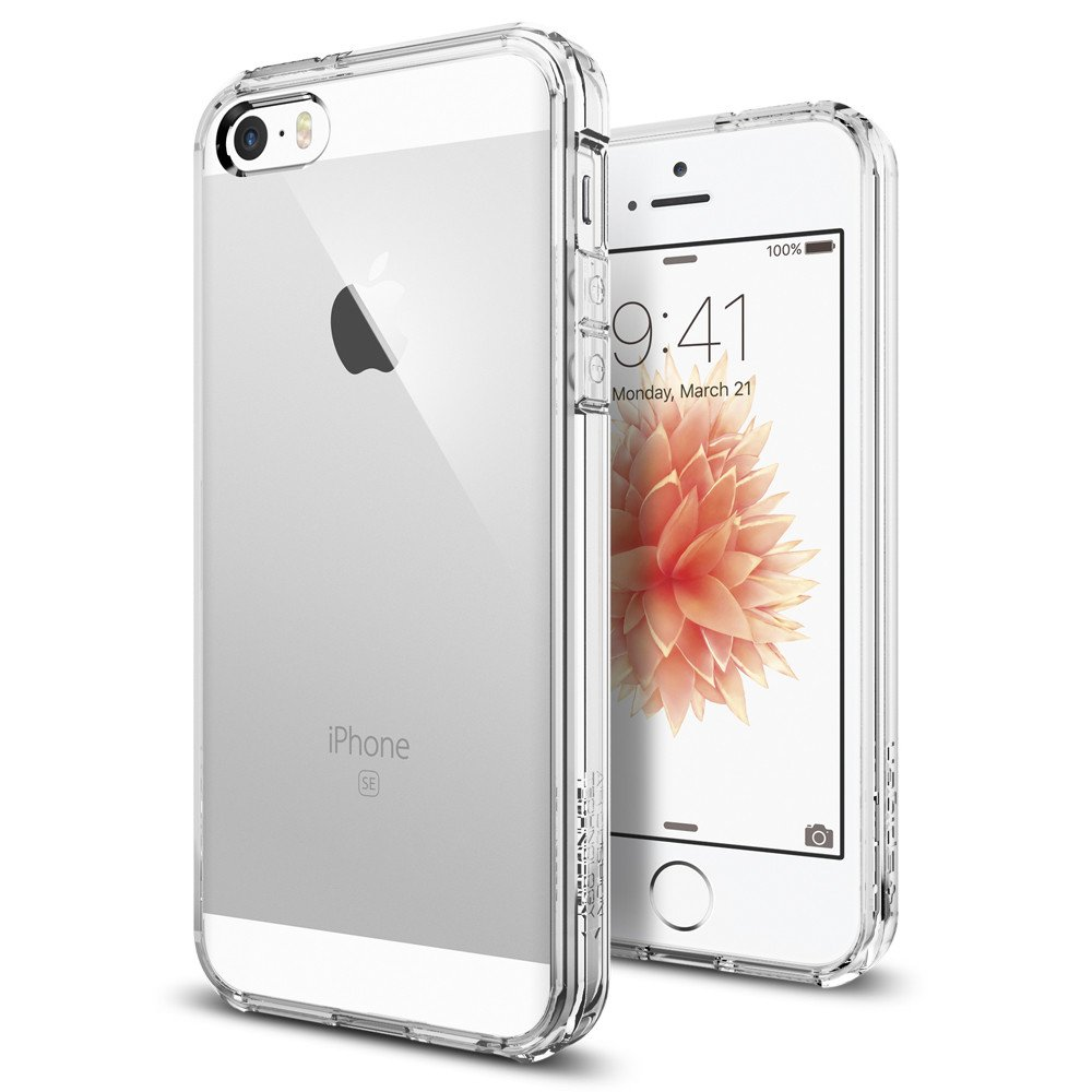 Spigen Θήκη Ultra Hybrid iPhone SE/5S/5 - Crystal Clear (041CS20171) θήκες κινητών