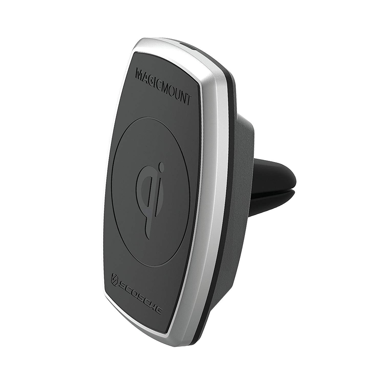 Scosche MagicMount Pro Charge Vent -  Μαγνητική Βάση Ασύρματης Φόρτισης (MPQ2V-XTSP)