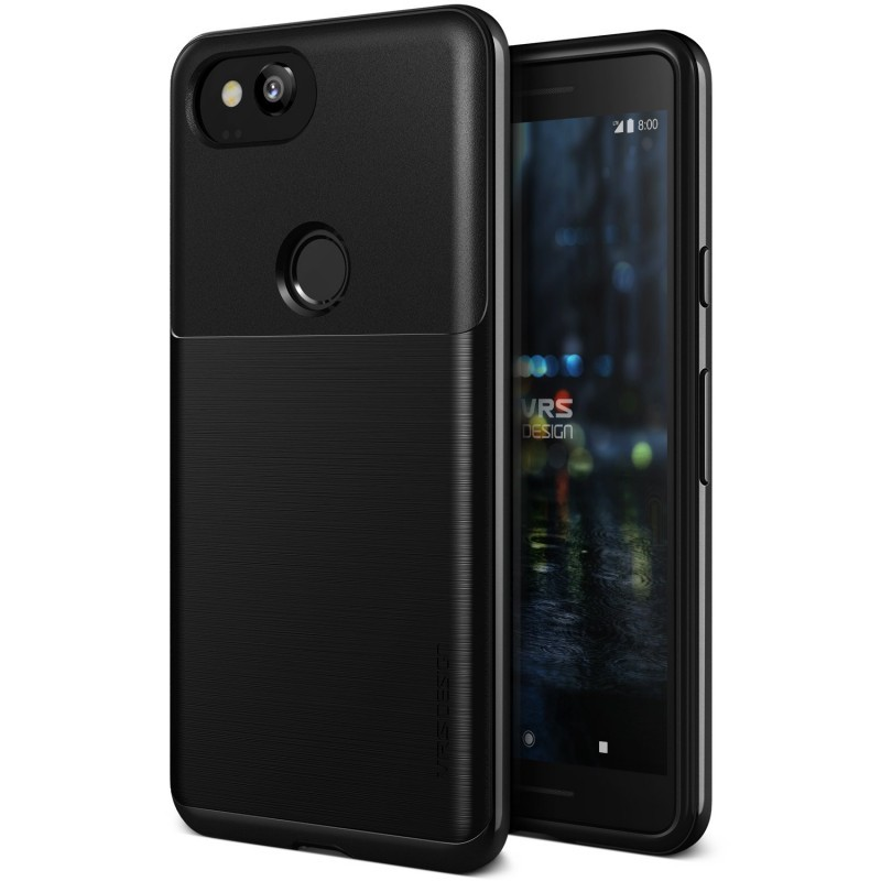 VRS Design Θήκη High Pro Shield Google Pixel 2 - Metal Black (VRSPX2-HPSBK)