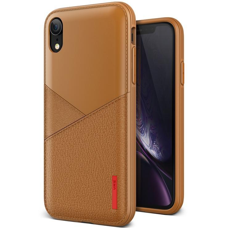 VRS Design Θήκη Leather Fit Label iPhone XR - Brown (8809582395403)