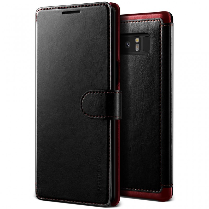 VRS Design Θήκη - Πορτοφόλι Samsung Galaxy Note 8 - Black/Wine (VRSGN8-LDDBK)