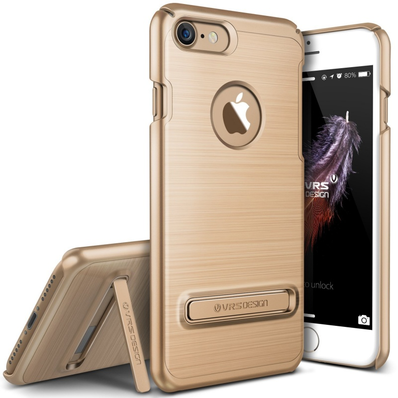 VRS Design Θήκη Simpli Lite Rugged Fit Kickstand iPhone 7 - Gold (VRIP7SPLGD)