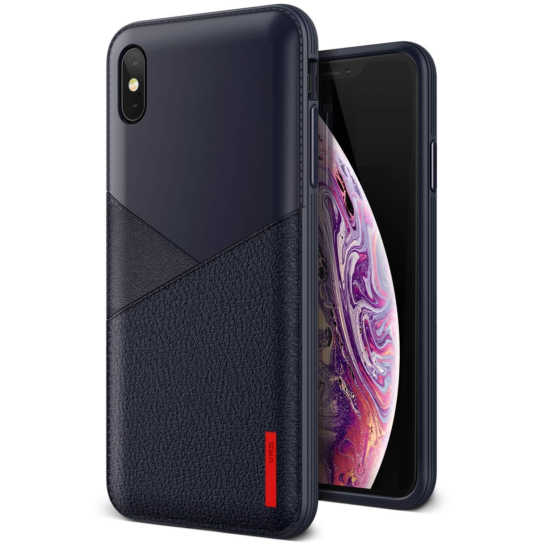 VRS Design Θήκη Leather Fit Label iPhone XS Max - Navy (14651)