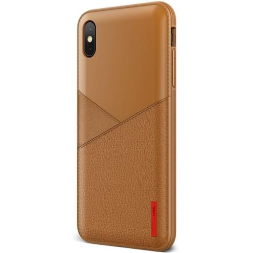 VRS Design Θήκη Leather Fit Label iPhone XS Max - Brown (8809582395434)