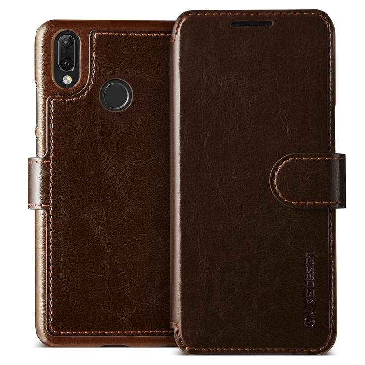 VRS Design Dandy Layered Θήκη - Πορτοφόλι Huawei P20 Lite - Dark Brown (VRSP20L-LDDCE)
