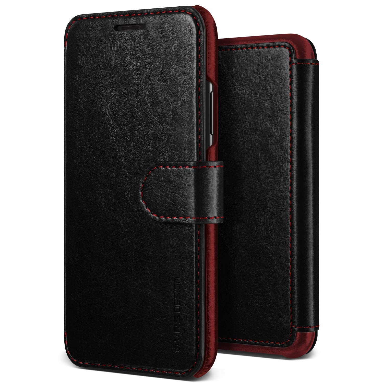 VRS Design Dandy Layered Θήκη - Πορτοφόλι iPhone XS Max - Black (VRS-IPXSM-LDD-BLK)