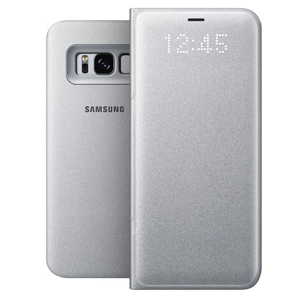 Samsung Official LED View Flip Wallet - Θήκη Smart Wallet για Samsung Galaxy S8 - Silver (EF-NG950)