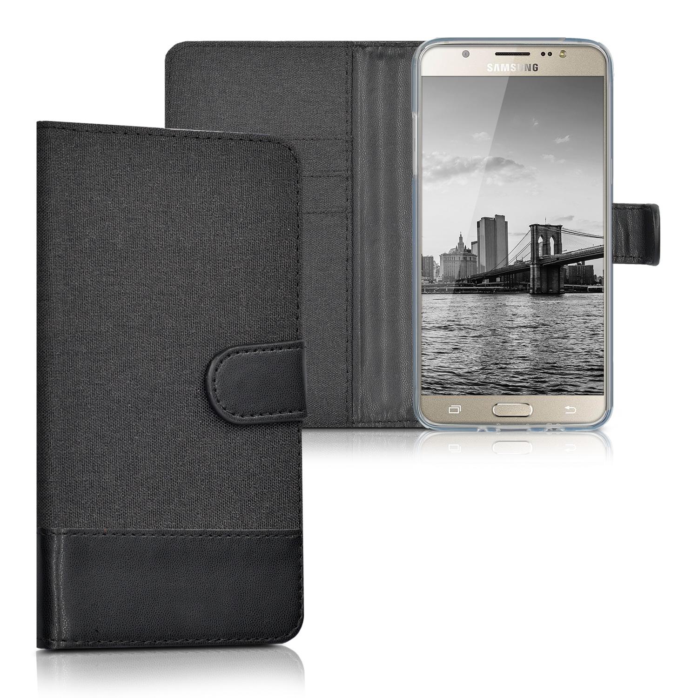 KW Θήκη Πορτοφόλι Samsung Galaxy J5 2016 - Black Canvas (39805.04)