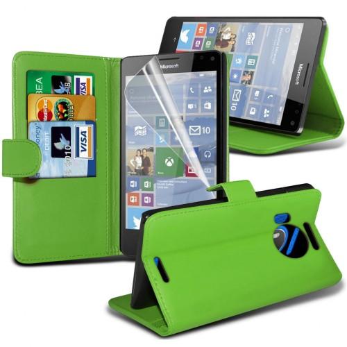 Θήκη Πορτοφόλι Microsoft Lumia 950 - Green - OEM (10867)