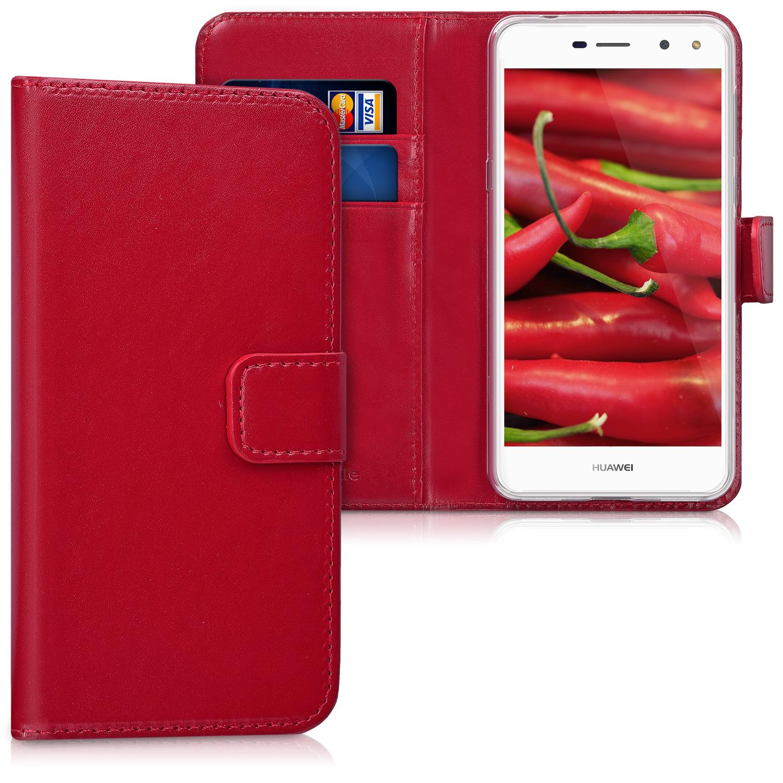 KW Θήκη - Πορτοφόλι Huawei Y6 2017 - Red (42112.20)