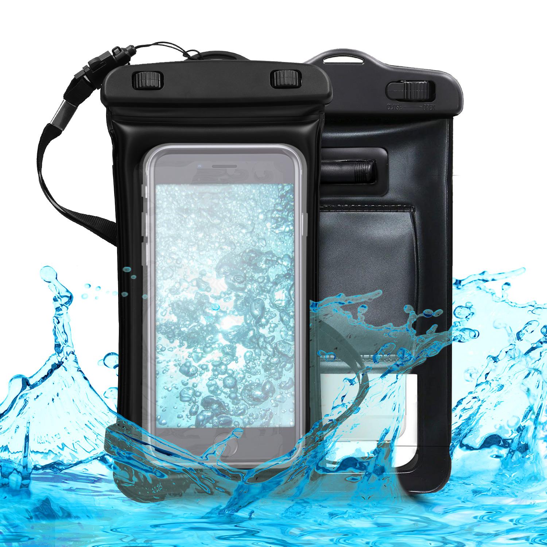 KW Universal Αδιάβροχη Θήκη Πουγκί για Smartphones έως 5.5'' - Black (44590.01)