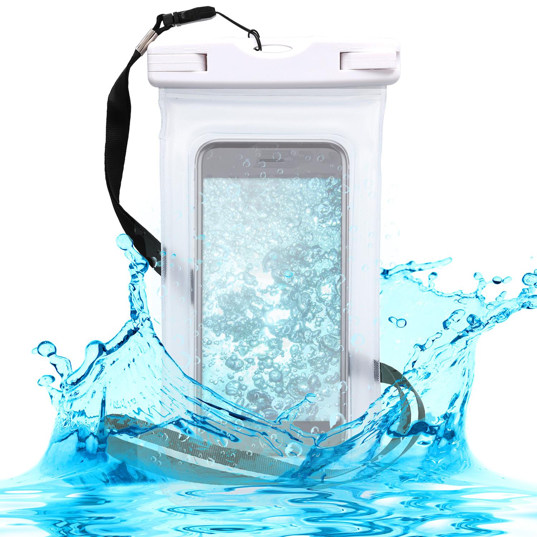 KW Universal Αδιάβροχη Θήκη Πουγκί για Smartphones έως 5.5'' - White (44589.03)