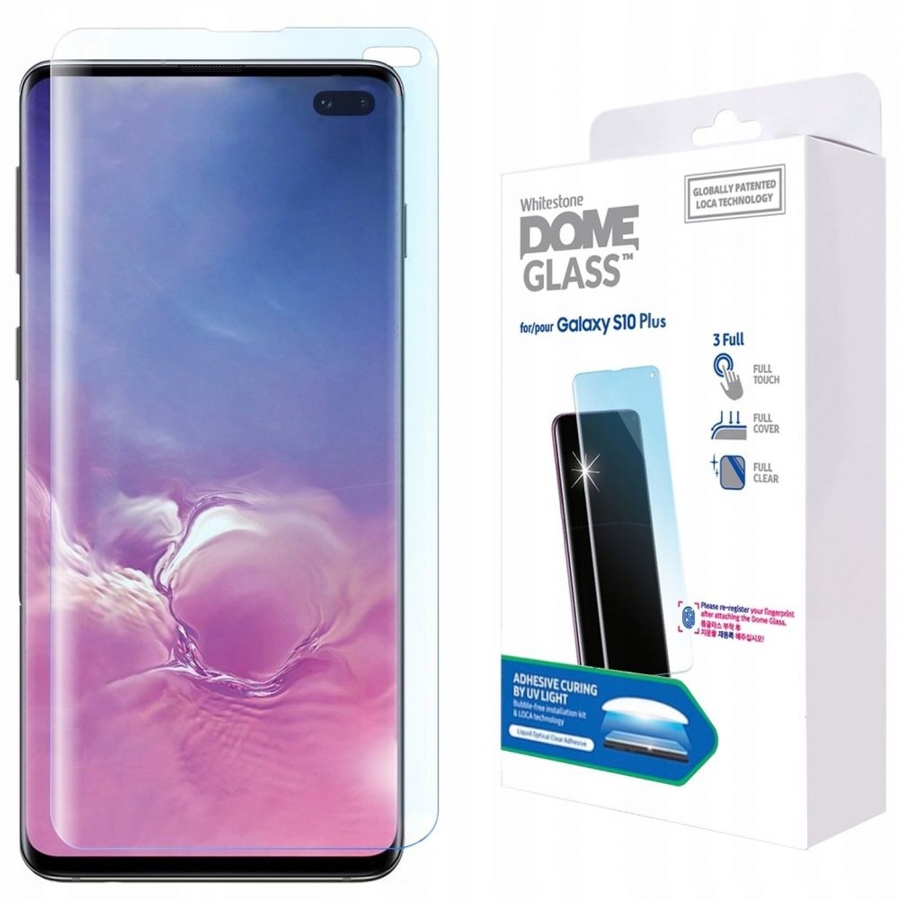 Whitestone Dome Glass - Liquid Optical Clear Adhesive Replacement Kit - Σύστημα προστασίας οθόνης Samsung Galaxy S10 Plus (45223)
