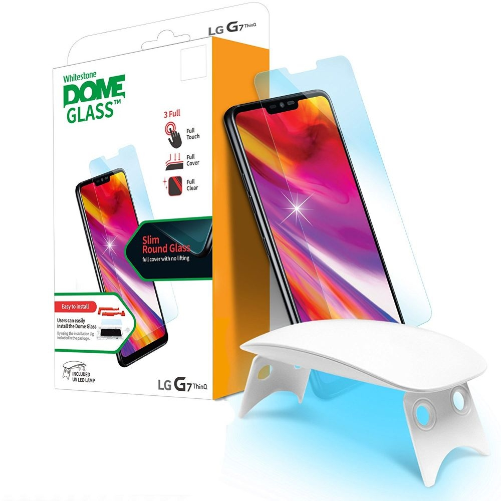 Whitestone Dome Glass - Liquid Optical Clear Adhesive & Installation Kit - Σύστημα προστασίας οθόνης LG G7 ThinQ (45135)