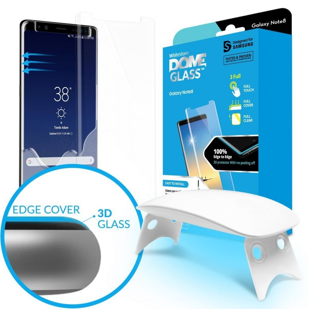 Whitestone Dome Glass - Liquid Optical Clear Adhesive & Installation Kit - Σύστημα προστασίας οθόνης Samsung Galaxy S8 Plus (13784)