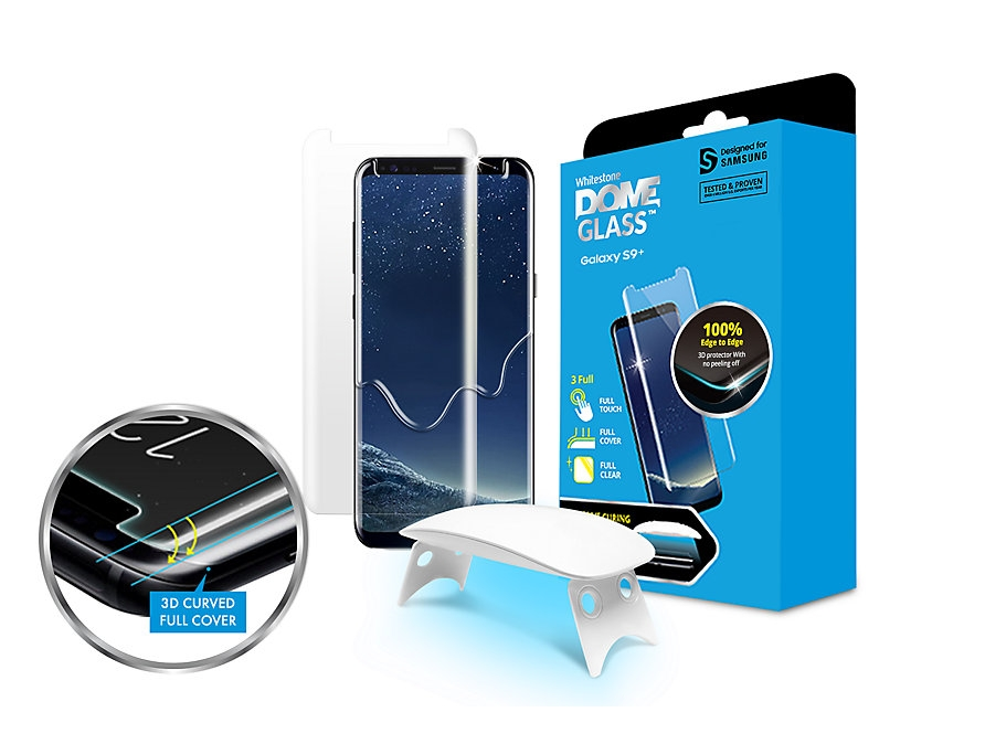 Whitestone Dome Glass - Liquid Optical Clear Adhesive & Installation Kit - Σύστημα προστασίας οθόνης Samsung Galaxy S9 Plus (GP-G965WTEEBAA)