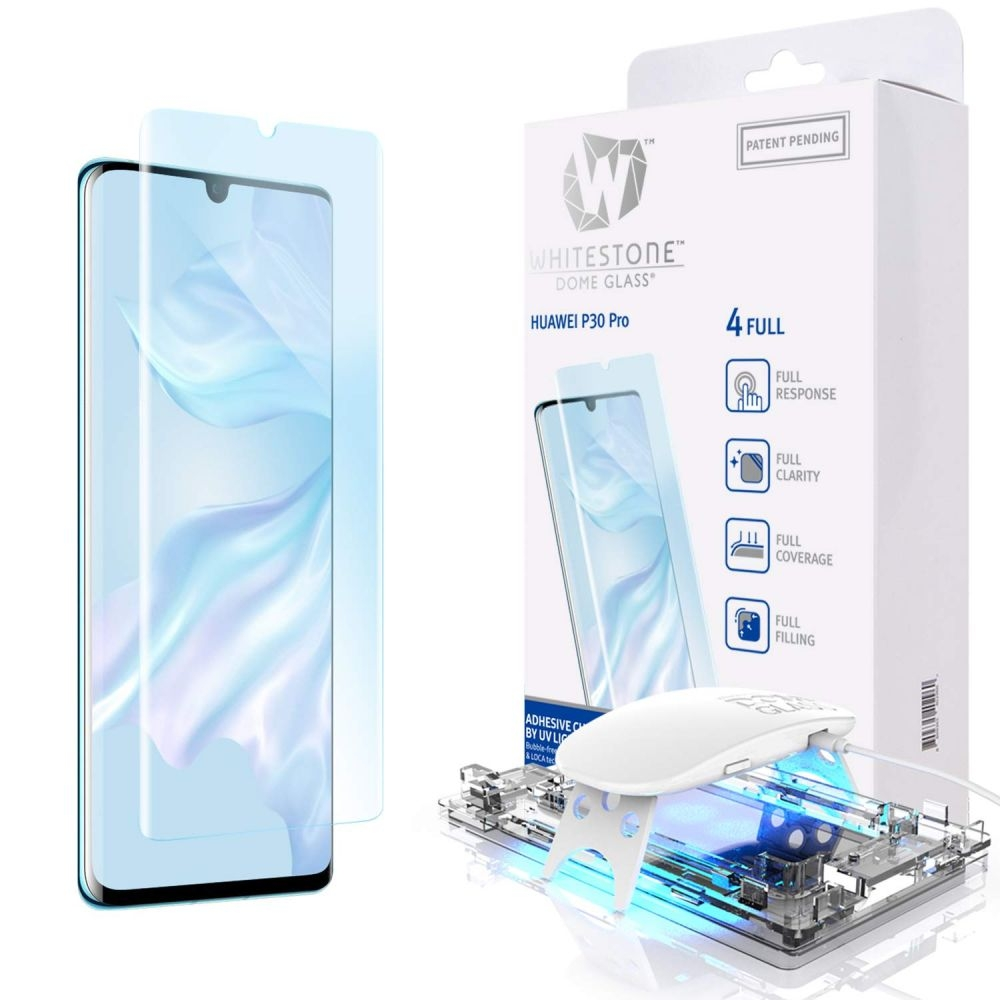 Whitestone Dome Glass - Liquid Optical Clear Adhesive & Installation Kit - Σύστημα προστασίας οθόνης Huawei P30 Pro (50239)