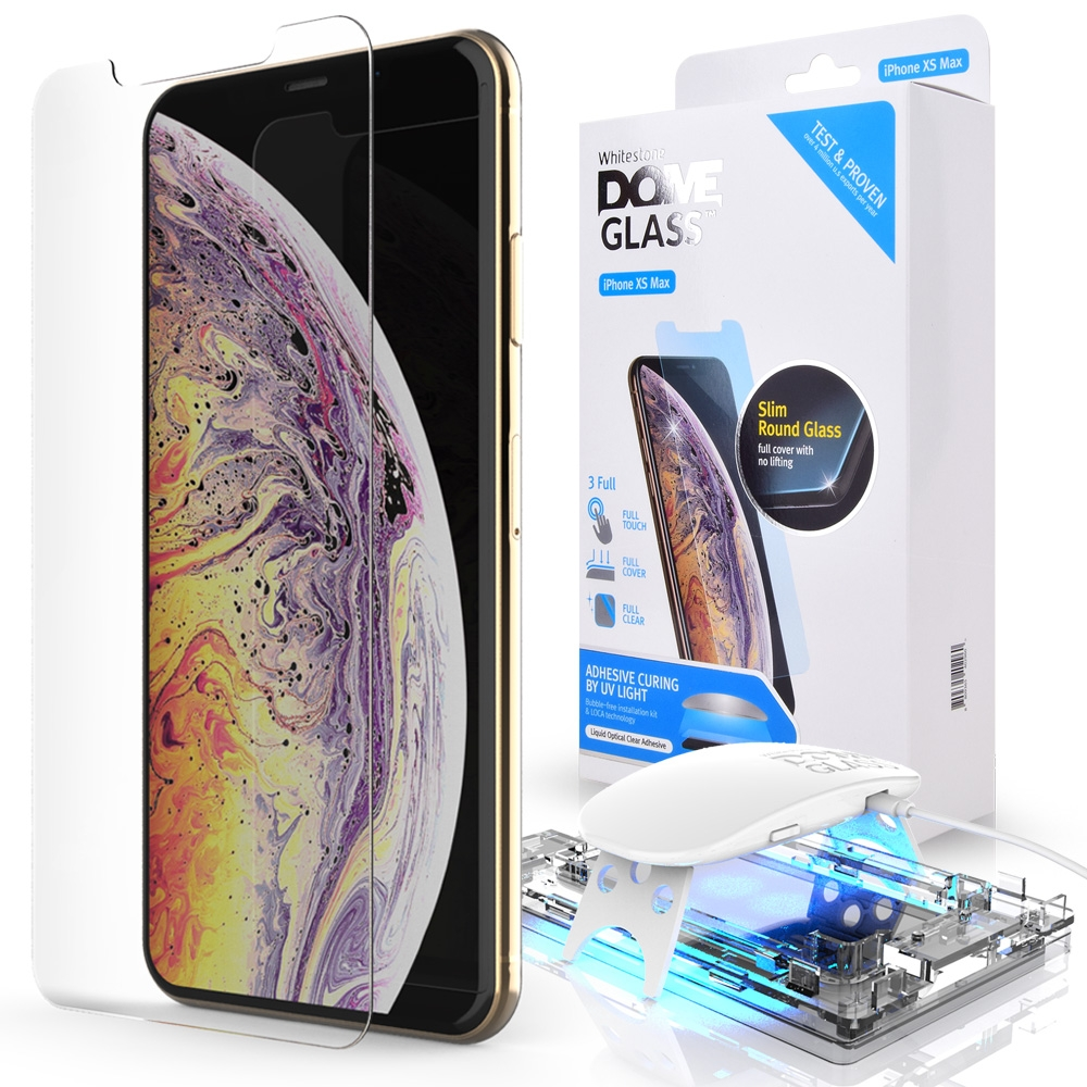 Whitestone Dome Glass - Liquid Optical Clear Adhesive & Installation Kit - Σύστημα προστασίας οθόνης iPhone XS Max (14733)