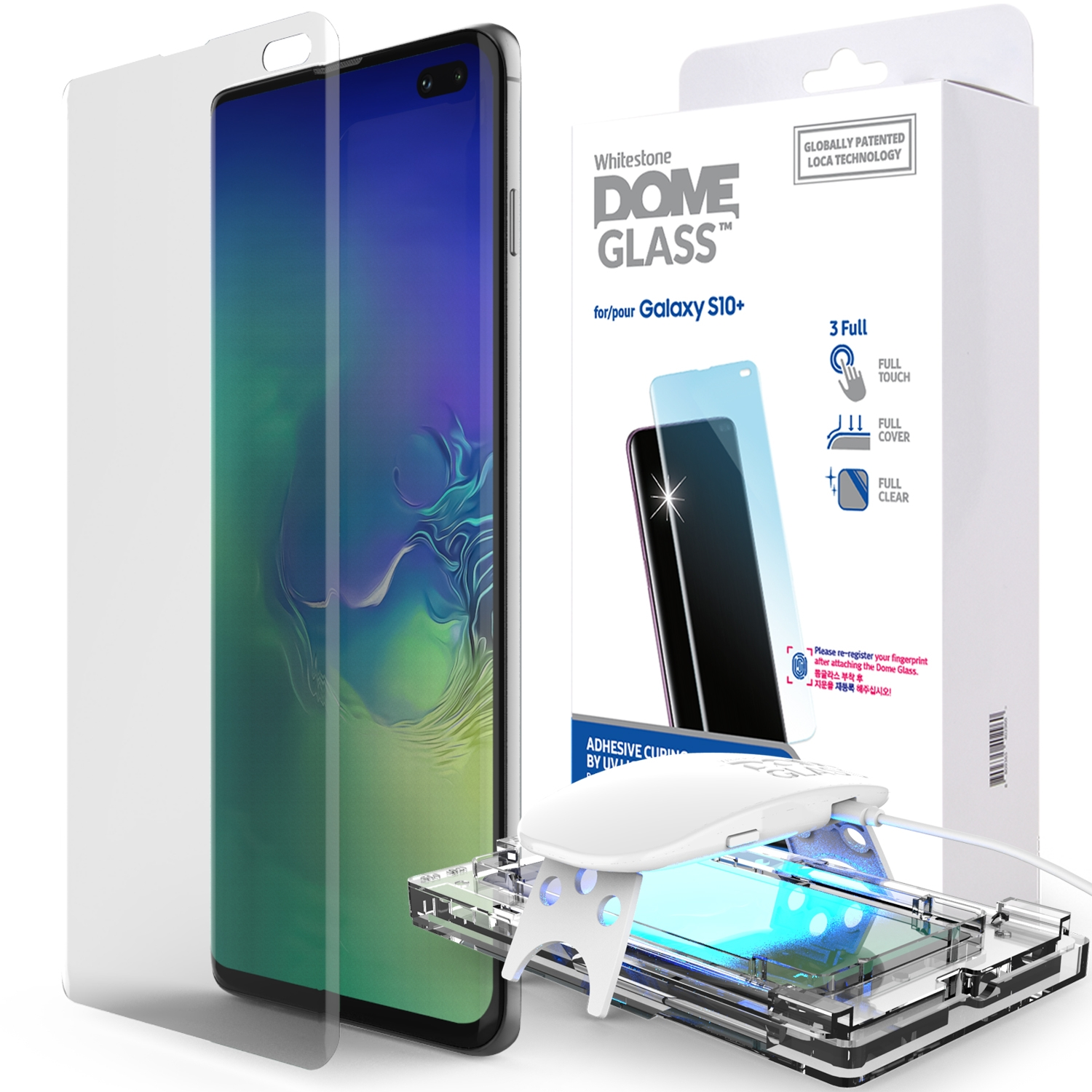 Whitestone Dome Glass - Liquid Optical Clear Adhesive & Installation Kit - Σύστημα προστασίας οθόνης Samsung Galaxy S10 Plus (45226)